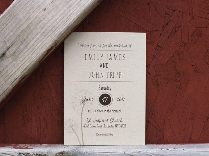 Tmx 1504034636964 Rusticweddinginvite Rochester, NY wedding invitation