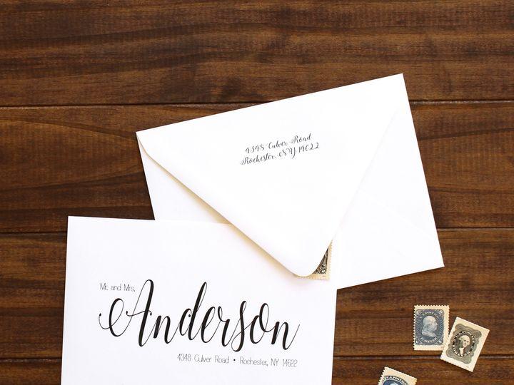 Tmx 1504034664790 Printedenvelopes Fairport, NY wedding invitation