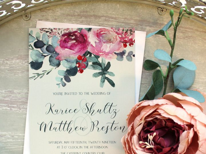 Tmx 1504034690655 Floralwedding Fairport, NY wedding invitation
