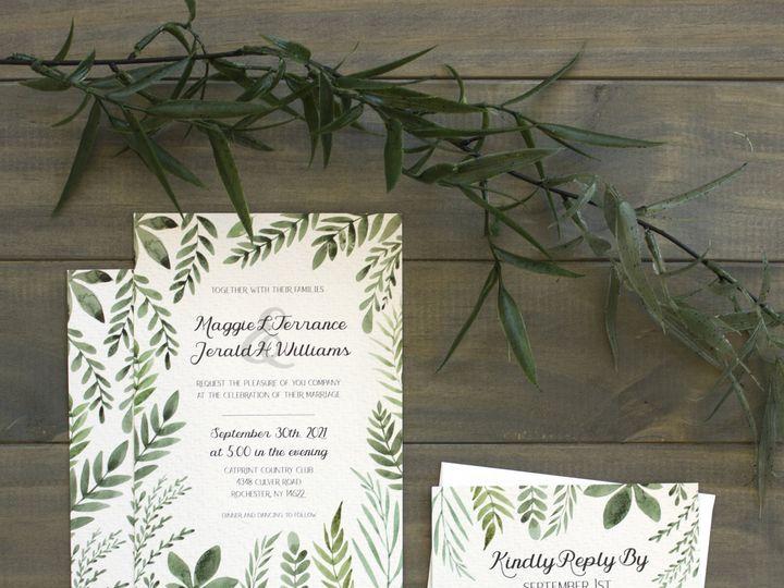 Tmx 1504034718432 Greenerysuitewedding Rochester, NY wedding invitation