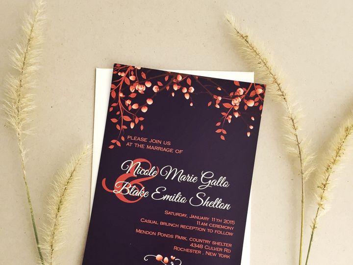 Tmx 1504034771009 Fallwedding01 Fairport, NY wedding invitation