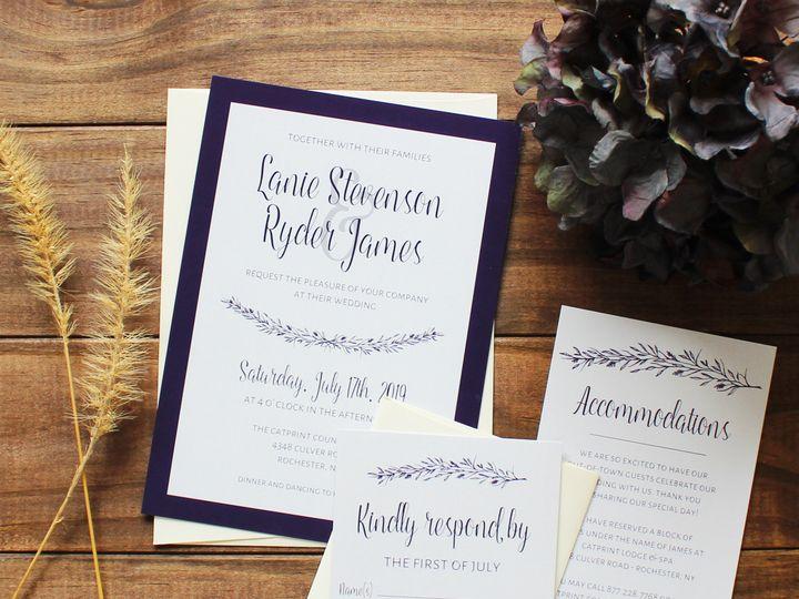 Tmx 1504034937018 Img4546b Fairport, NY wedding invitation