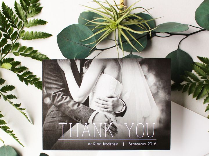 Tmx 1517846947 C4101055873e99c5 1517846945 01c7e05780cdb750 1517846950225 1 ThankYou Greenery  Fairport, NY wedding invitation