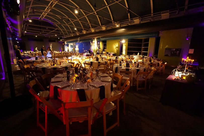 Astronomy hall can accomodate up to 250 guests with room for a dance floor.