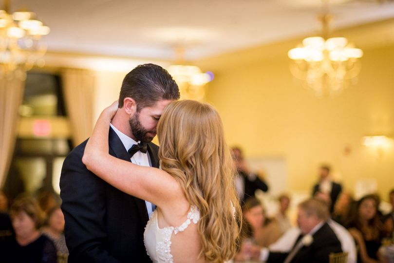 A sweet moment during the first dance at Blue Heron.