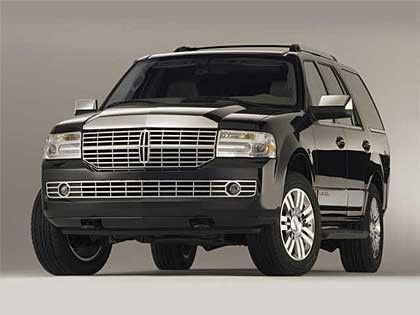 Black on black Lincoln Navigator SUV extended for more room, seats up to 7. Great for wedding party,...