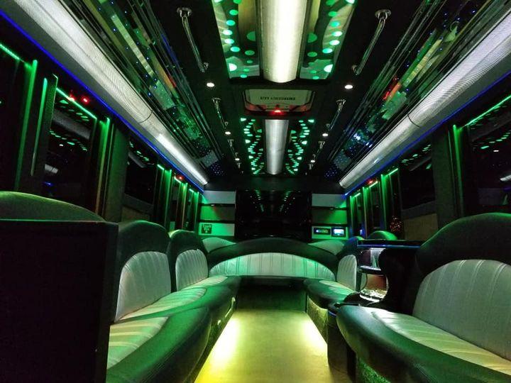 Inside of the 27 Passenger