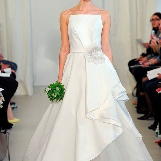 Wedding dress with a flower detail