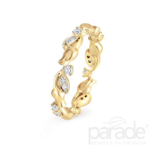 Gold free form ring