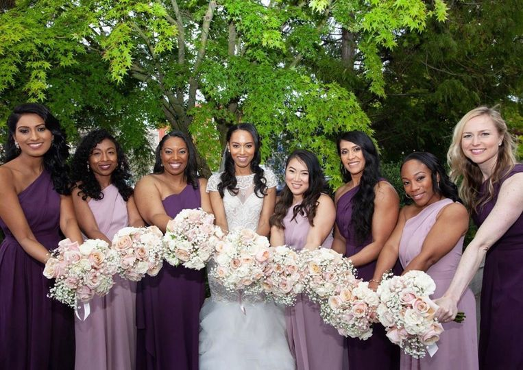 A beautiful bride & party
