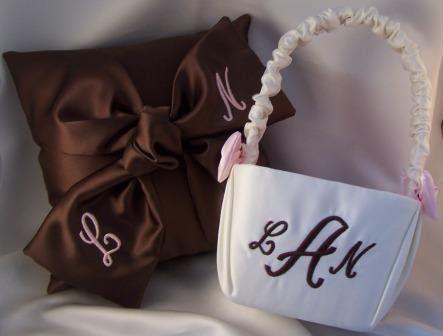 Tmx 1281449715189 Chocolateloveknotmonogrampillowbasket Salem wedding favor