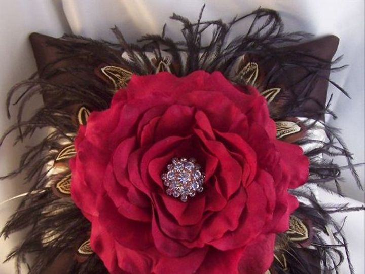 Tmx 1329874438969 Blackfeathersredrosepillow Salem wedding favor