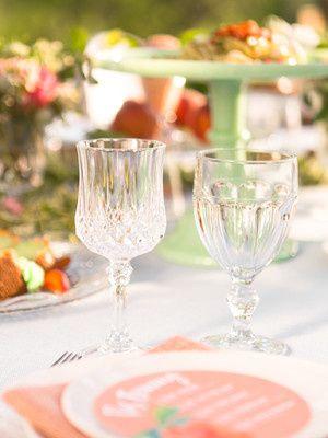 clear estate glassware vintage glasses rental kans