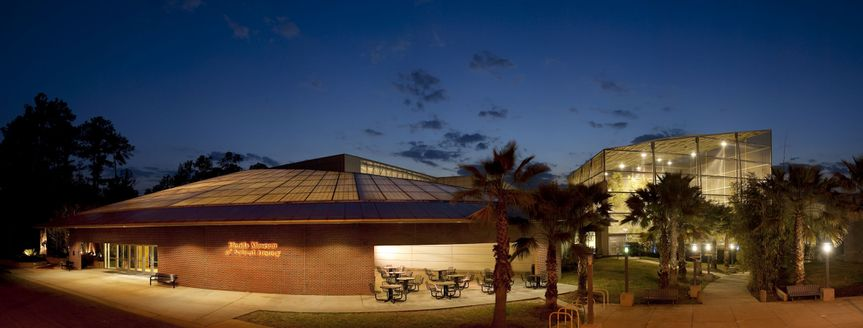 Florida Museum at night