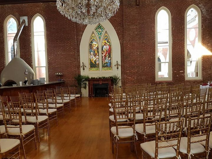 Church ceremony setup