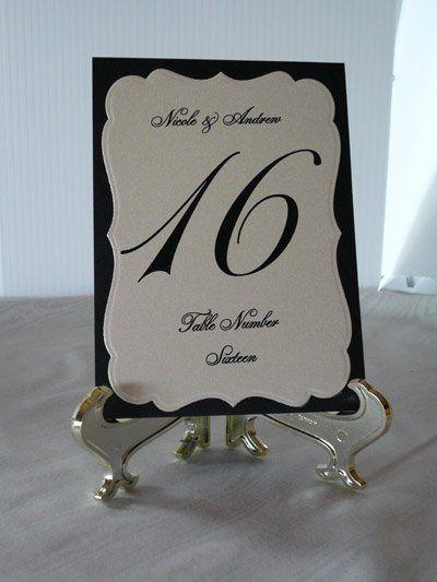 Table Number Black & Ivory