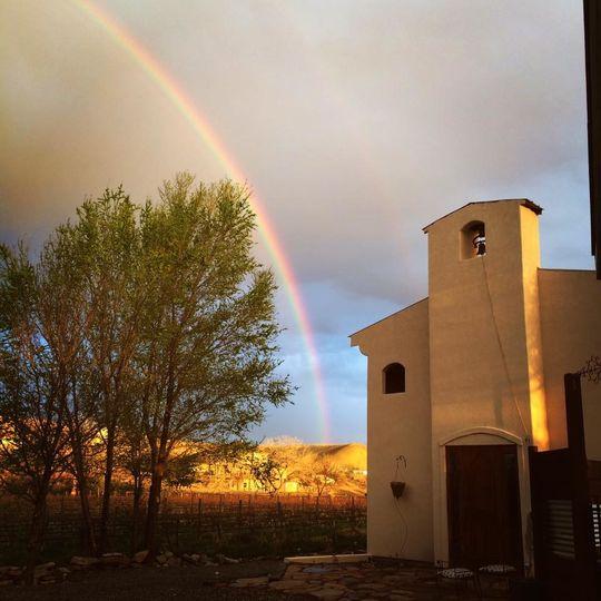 wedding house rainbow