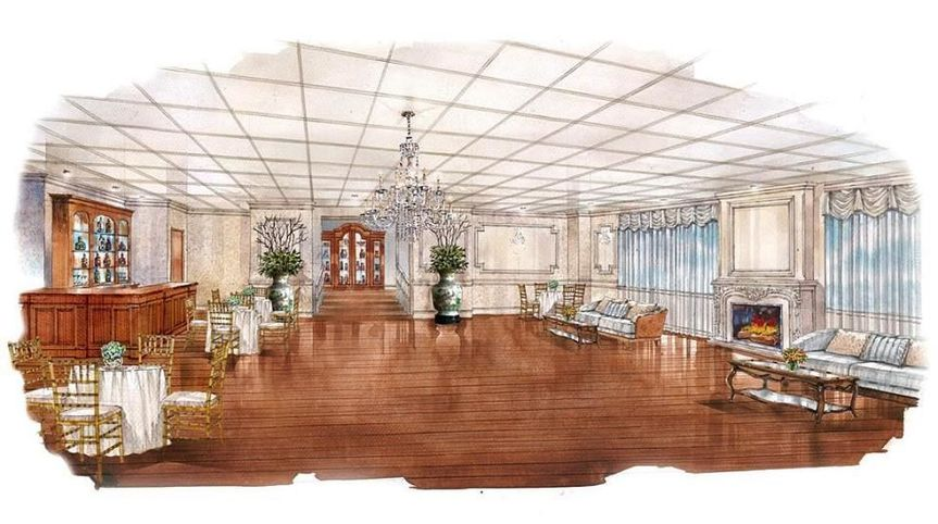 Newly renovated bridal suite expected to be done by late Winter 2018