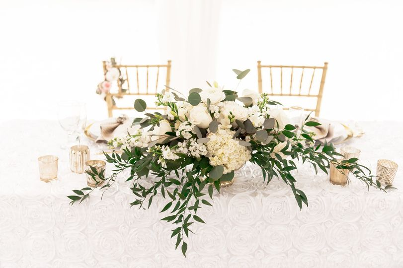 Flower decoration on table