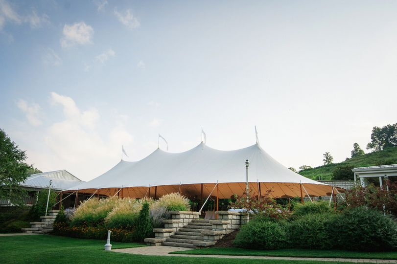 Sperry sail tent event space