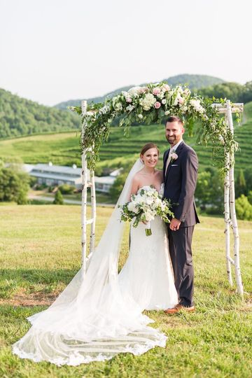 Mountain and Vineyard Ceremony