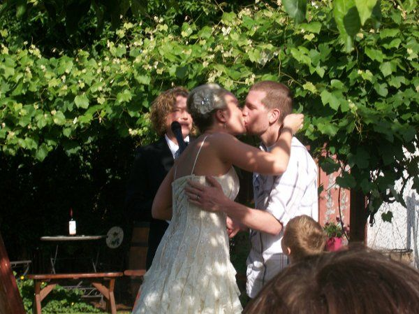 Jordan kisses his bride