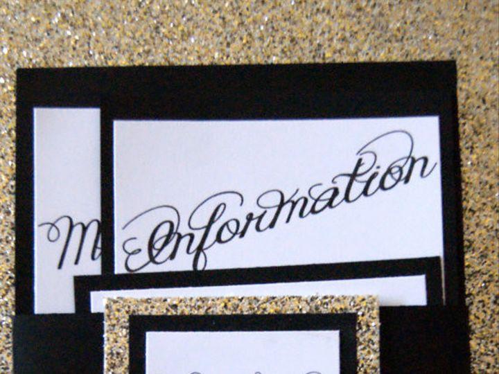 Tmx 1395949168332 Black And Gol Roseville, CA wedding invitation