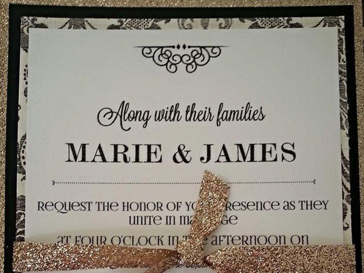 Tmx 1395949171269 Blackngoldweddin Roseville, CA wedding invitation