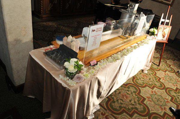 Our elegant & formal tabletop mini donut station setup