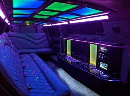 Interior of Chrysler 300 Limo