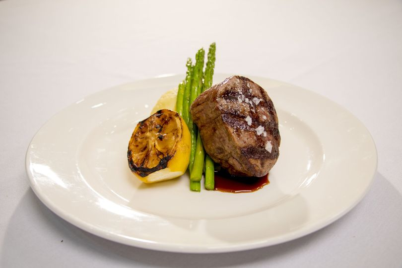 Grilled filet mignon with demi glace