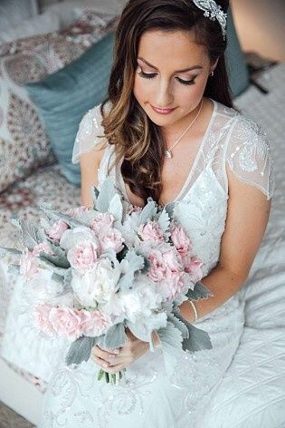Bride and a bouquet