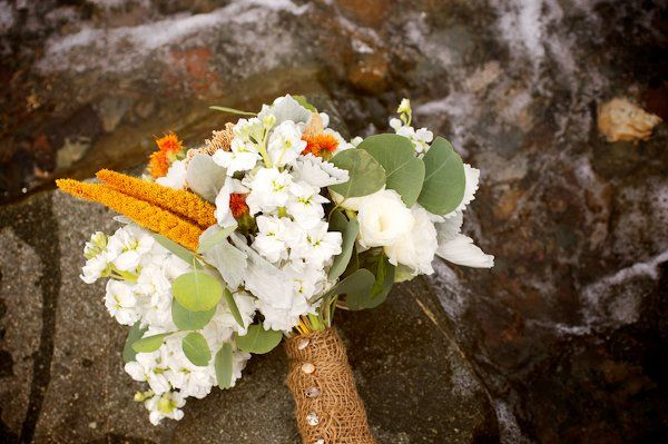 Cohasset beach bouquet, on the rocks
