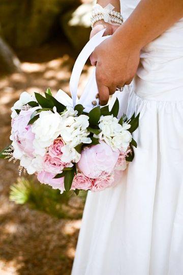 Backyard bash bridal bouquet