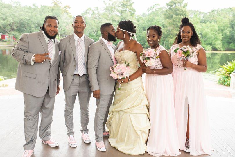 Stylish wedding party
