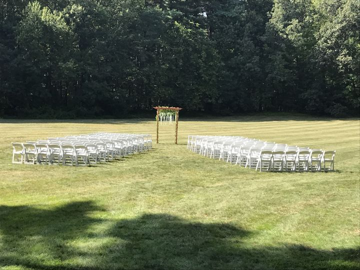 Field wedding site