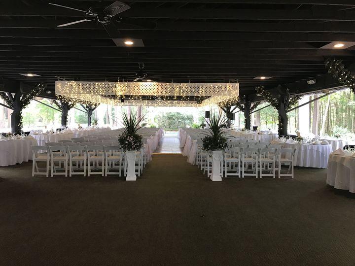Pavilion ceremony setup
