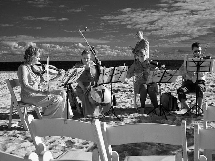 Performing on the beach