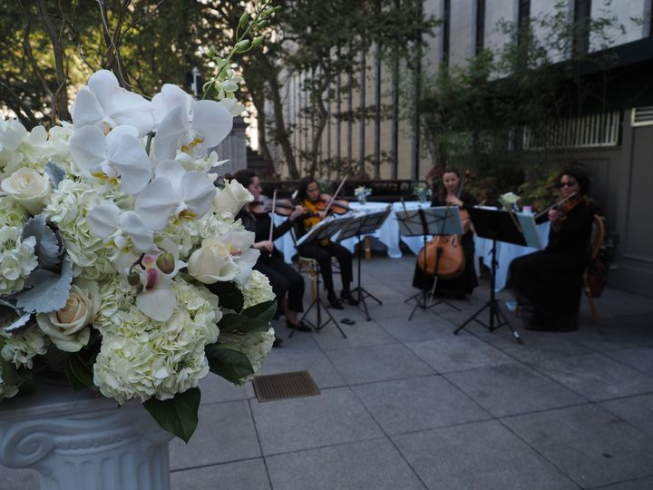Performing on a patio