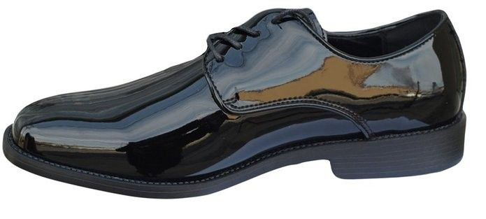 Genoa Patent Leather Lace up Front (side view)