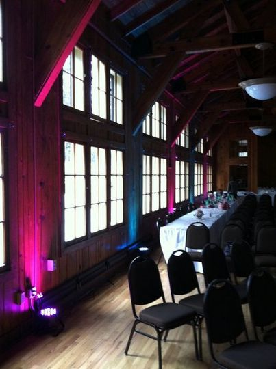Uplighting. A great way to highlight your head table.