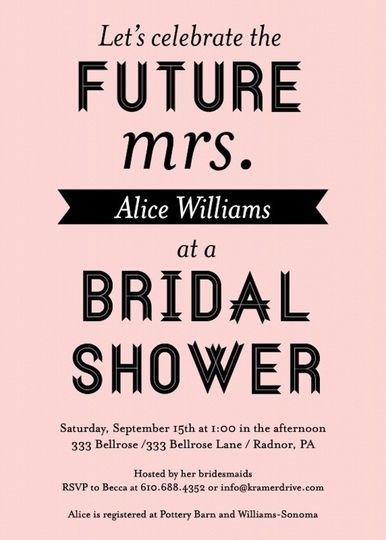 Kramer Drive Shower Invitation, Available at Ply