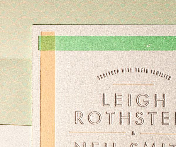 Bella Figura Letterpress Wedding Invitation, Available at Ply