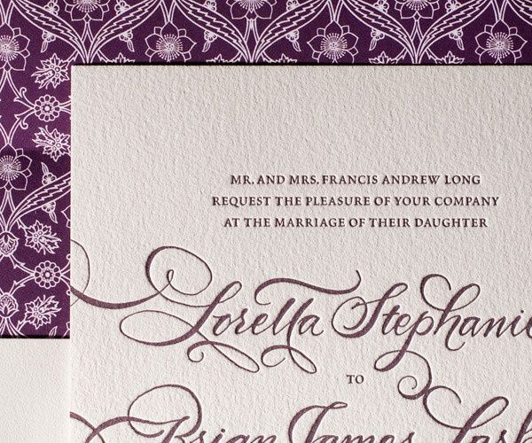 Tmx 1389372274604 Loretta Formal Letterpress Sample  Chapel Hill wedding invitation
