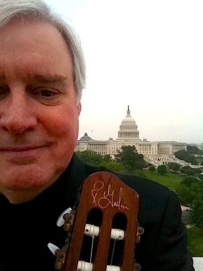 Playing on the rooftop of 101 Constitution Ave., overlooking the Capitol Building.