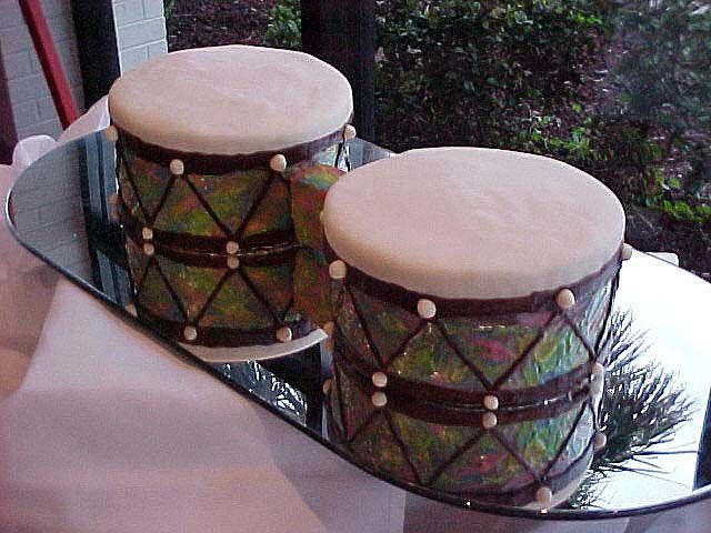 Traditional African marriage drums
