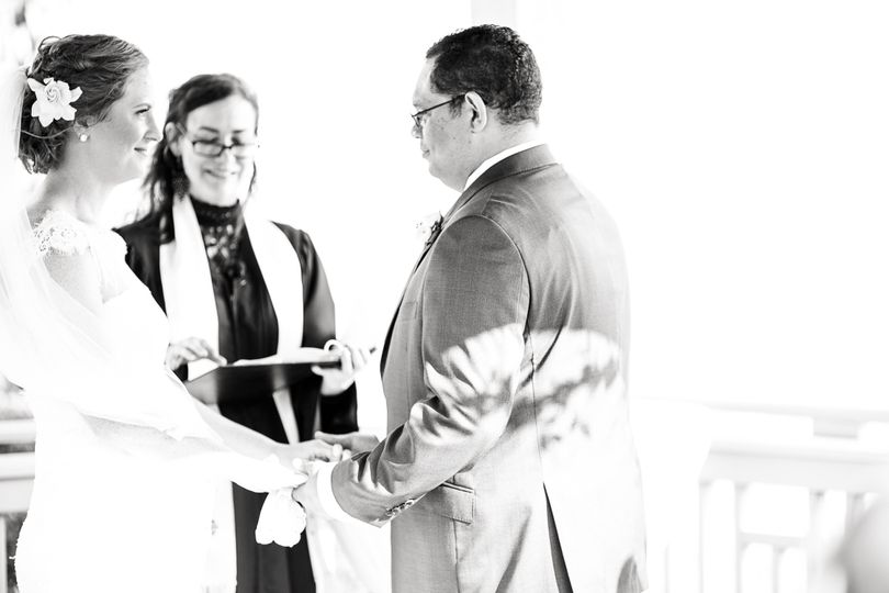 Black and white ceremony capture - Photo: Jade & Matthew Pictures