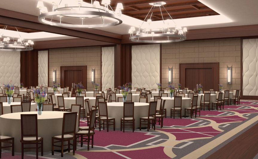 8,300 square foot ballroom along with 22 meeting and event spaces