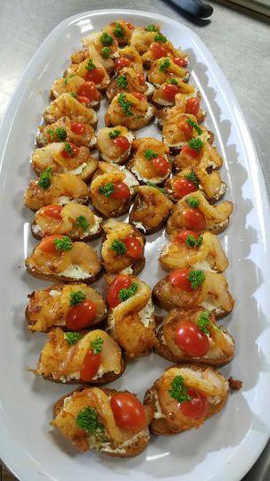 spicy shrimp crostini