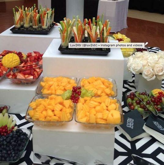 Crudite & fruit display